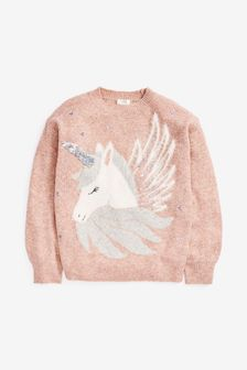 Sequin Unicorn Jumper (3-16yrs)
