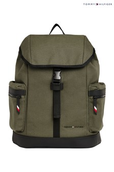 Tommy Hilfiger Green Utility Canvas Backpack