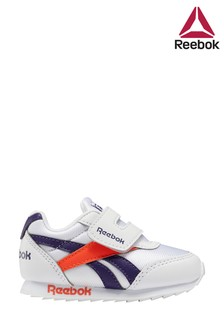 Reebok Silver/Navy Royal Infant Trainers