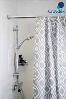 Croydex Medallion Geo Print Shower Curtain