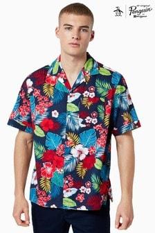 Chemise à imprimé floral Original Penguin® Resort bleue