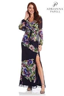Szyfonowa suknia Adrianna Papell z kwiatowym nadrukiem