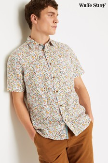 White Stuff Orange Portsoy Print Shirt