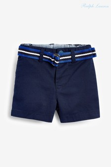 Ralph Lauren Navy Chino Shorts With Belt