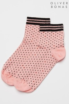 Oliver Bonas getupfte Socken, Pink