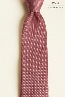 Moss London Rose Pink Textured Tie