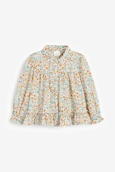 Bedruckte Bluse aus Bio-Baumwolle (3Monate bis 7Jahre)