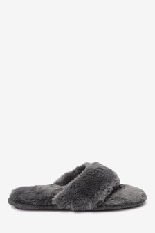 Recycled Faux Fur Slippers