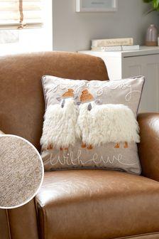 Grey Soft Sheep Cushion