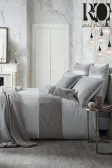 Rita Ora Sylvie Faux Fur and Sequin Trim Duvet Cover