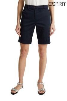 Esprit Blue Woven Bermuda Shorts