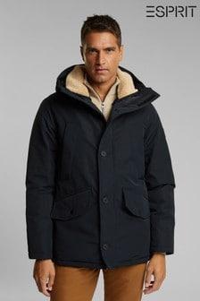 Esprit Black Outdoor Woven Long Jacket