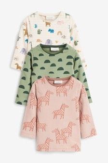Набор футболок с длинным рукавом из органического хлопка (3 шт.) (0 мес. - 3 лет)