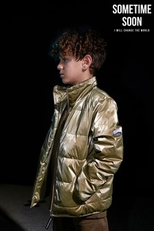 Sometime Soon Wattierte Jacke, Gold