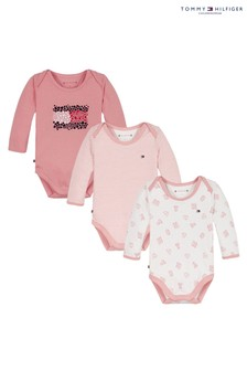 Tommy Hilfiger Pink Baby Body 3 Pack Gift Box