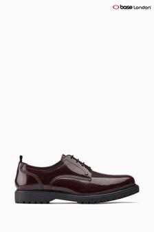 Červené derby topánky s hrubou podrážkou Base London®