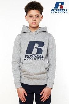 Sudadera con capucha con logotipo de Russell Athletic