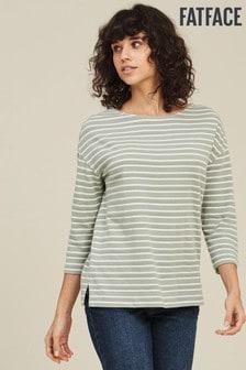 חולצת פסים בירוק דגם Lucille של FatFace