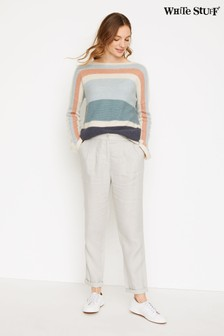 White Stuff Grey New Maison Linen Trousers