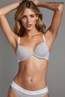 Calvin Klein Grey Lightly Lined Demi Bra