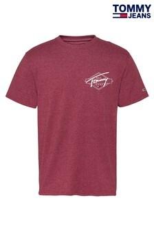 חולצתטי שלTommyJeans עם הדפס גראפימאחורבאדום