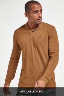 長袖凸紋Polo衫