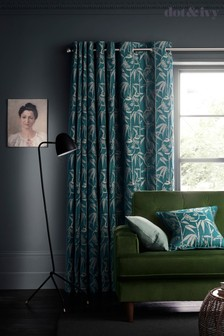 Dot & Ivy Lantern Jacquard Eyelet Curtains