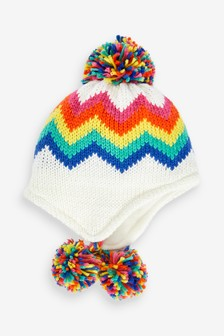 Rainbow Trapper Hat (Younger)