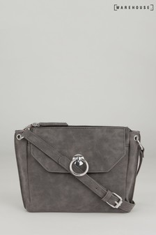 Warehouse Grey Ring Pocket Cross Body Bag
