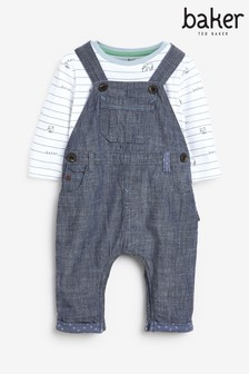 Baker by Ted Baker Baby Boys Dungarees And T-Shirt