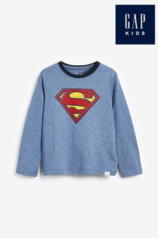 Gap Superman Long Sleeve T-Shirt With Cape