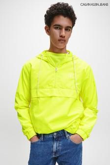 Calvin Klein Yellow Back Logo Popover Jacket