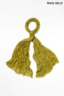 White Stuff Green Foil Dreaming Away Scarf
