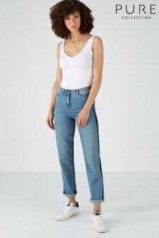Pure Collection Blue Montpellier Slim Boyfriend Jeans