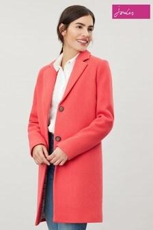 Joules Red Walton Crombie Coat