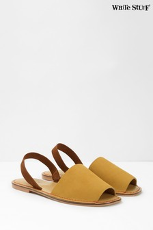 Žlté sandále White Stuff Elsie s remienkom za pätou