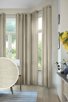 Linen Look Eyelet Curtains