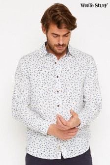 חולצה מודפסת מפשתן מעורב של White Stuff דגם Barrow בלבן