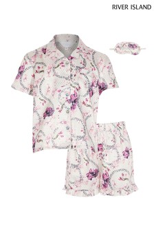 River Island Pink Floral Satin Set