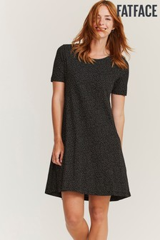 FatFace Black Simone Mini Spot Dress