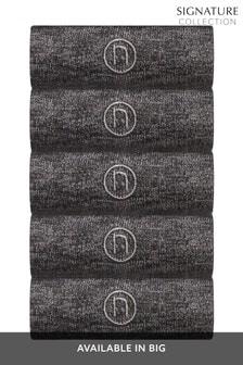 Marl N Logo Socks Five Pack