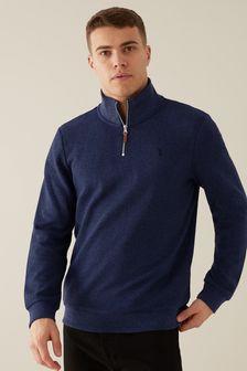 Long Sleeve Zip Neck Top (270918) | $39