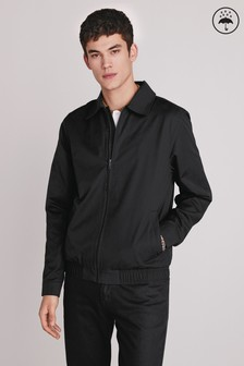 Shower Resistant Collared Harrington Jacket