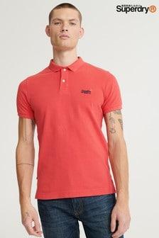 חולצת פולו מבד פיקה עם שרוולים קצרים של Superdry דגם Classic