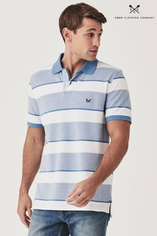 Crew Clothing Company Blue Oxford Polo
