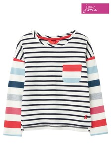 Joules White Cooper Stripe Top