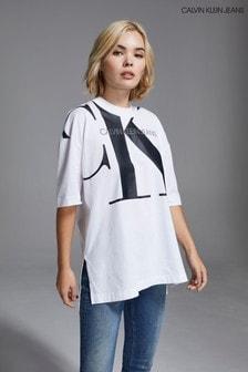 Calvin Klein Jeans White Large CK Tunic T-Shirt