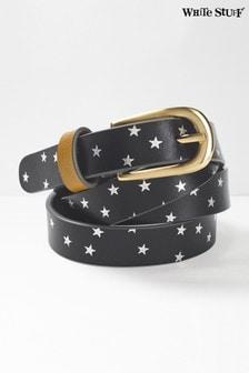 Cinturón gris con diseño metalizado de estrellas de White Stuff
