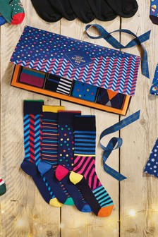 Подарочный набор высококачественных носков с разными мотивами (8 пар)