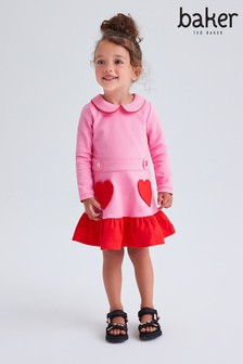 Baker by Ted Baker Pink and Red Peplum Dress
